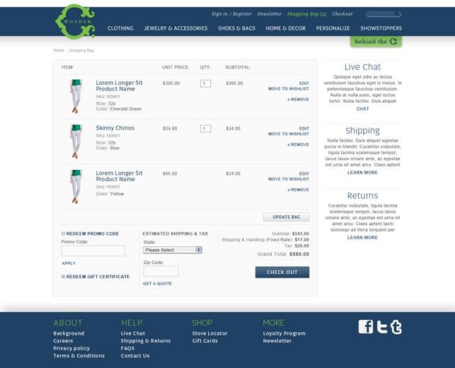 Fashion Retail Ecommerce Website Design