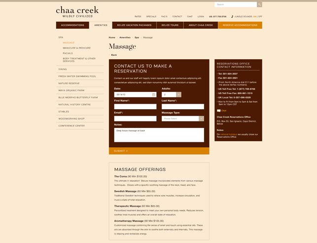 Luxury Spa Web Design