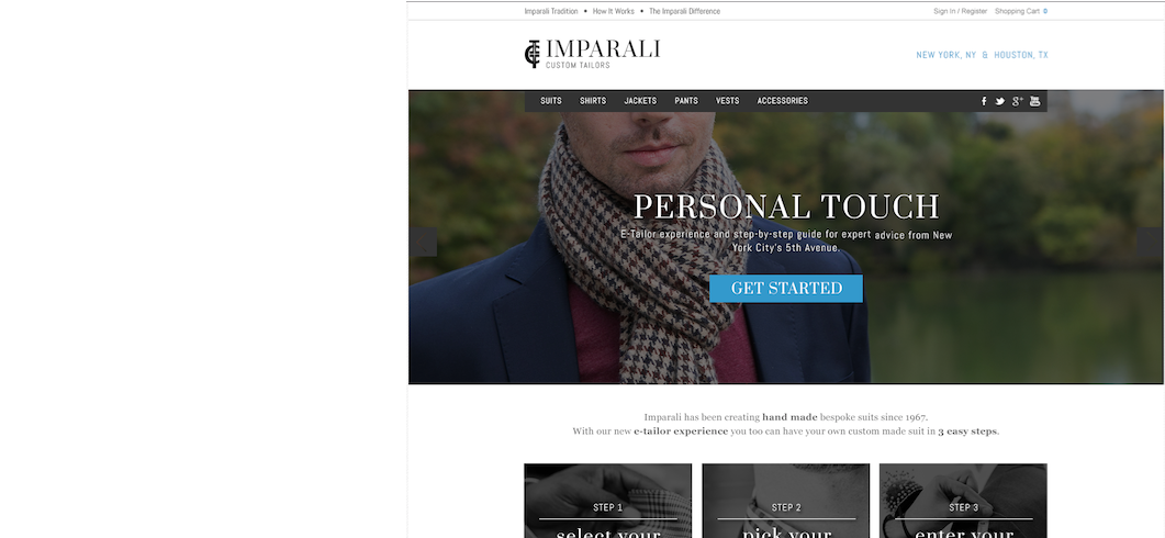 ecommerce website design men's fashion