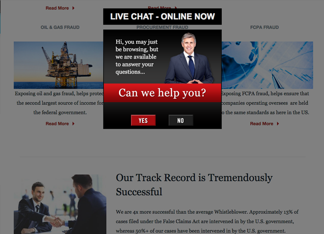 Qui Tam Lawyer Website Design