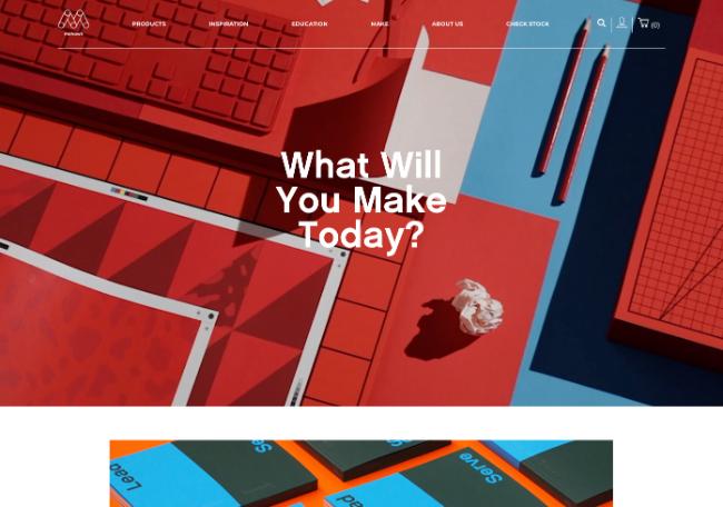 ecommerce website design homepage