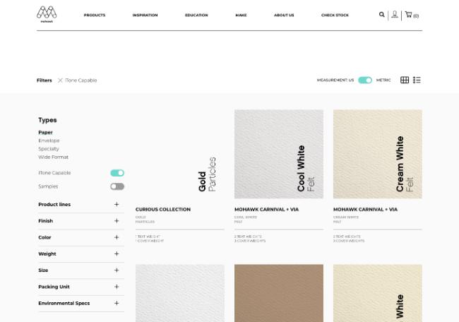ecommerce website design product finder