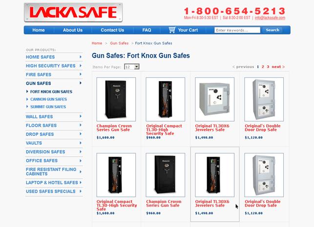 ecommerce website design product grid