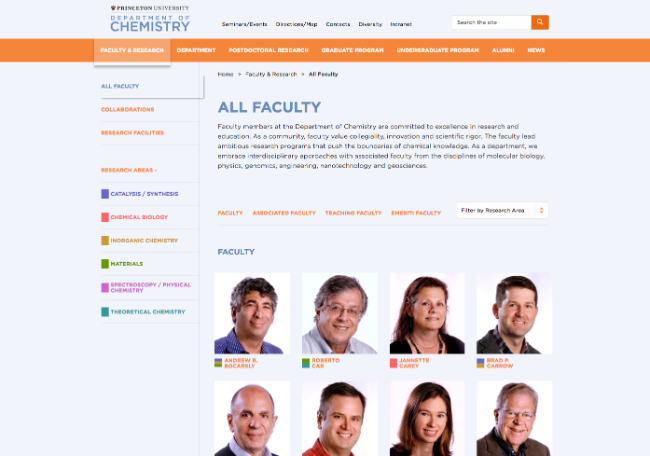 education web design princeton university