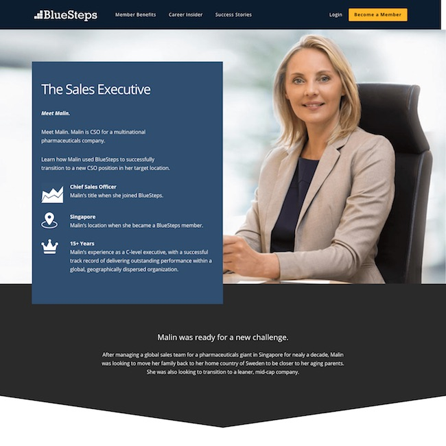 executive search company success story web design