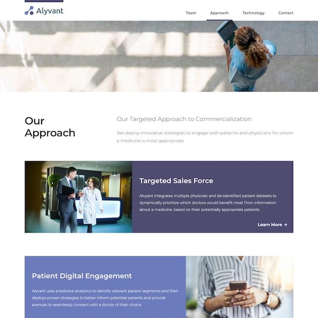 pharma company web design approach