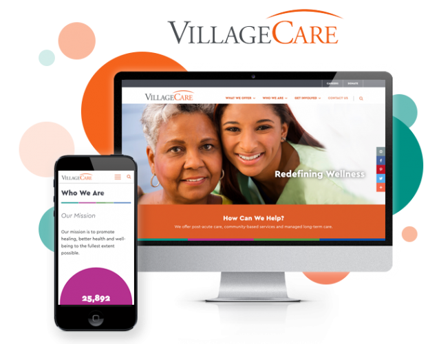 healthcare website design for villagecare
