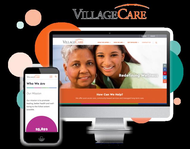 healthcare website design for villagecare