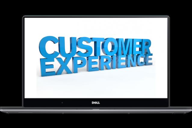 customer experience computer screen