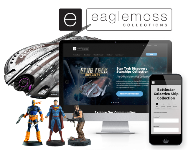 ecommerce website design for eaglemoss