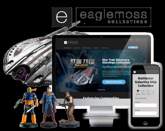 ecommerce website design for eaglemoss