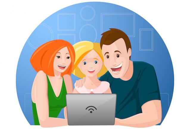 happy website visitors