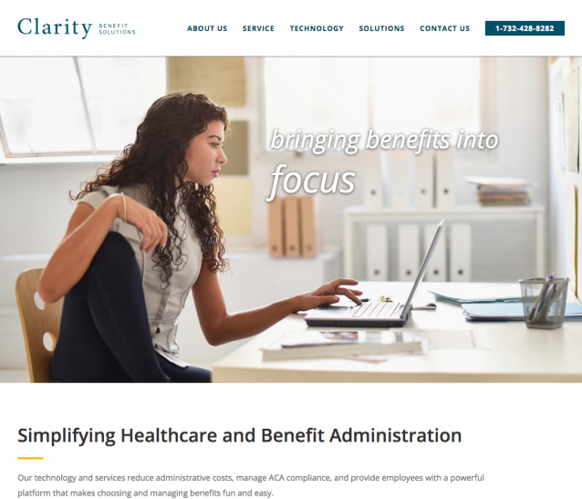 Clarity Benefits Homepage Image