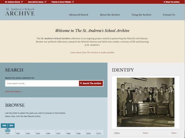 st andrews school archive homepage