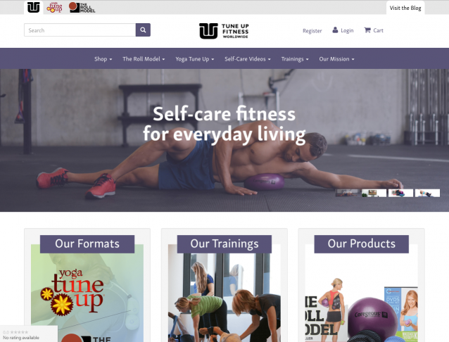 web development fitness website