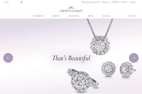 Ecommerce Website Design Jewelry