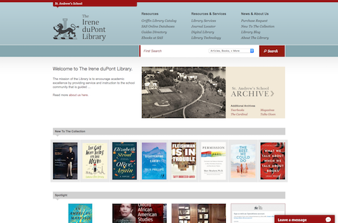 School Library Website Design