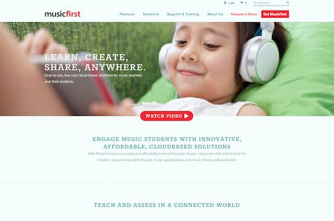 Music Education Web App Design