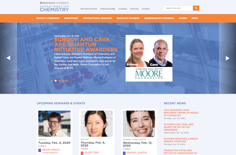 Web Design for Princeton University