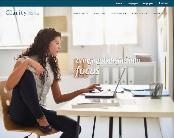 Technology Website Design Homepage