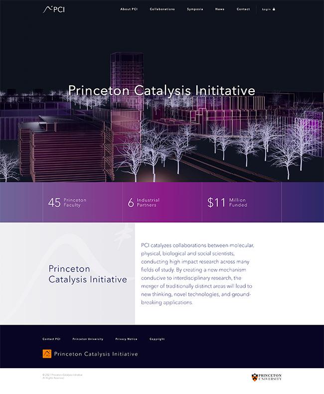 university initiative homepage design