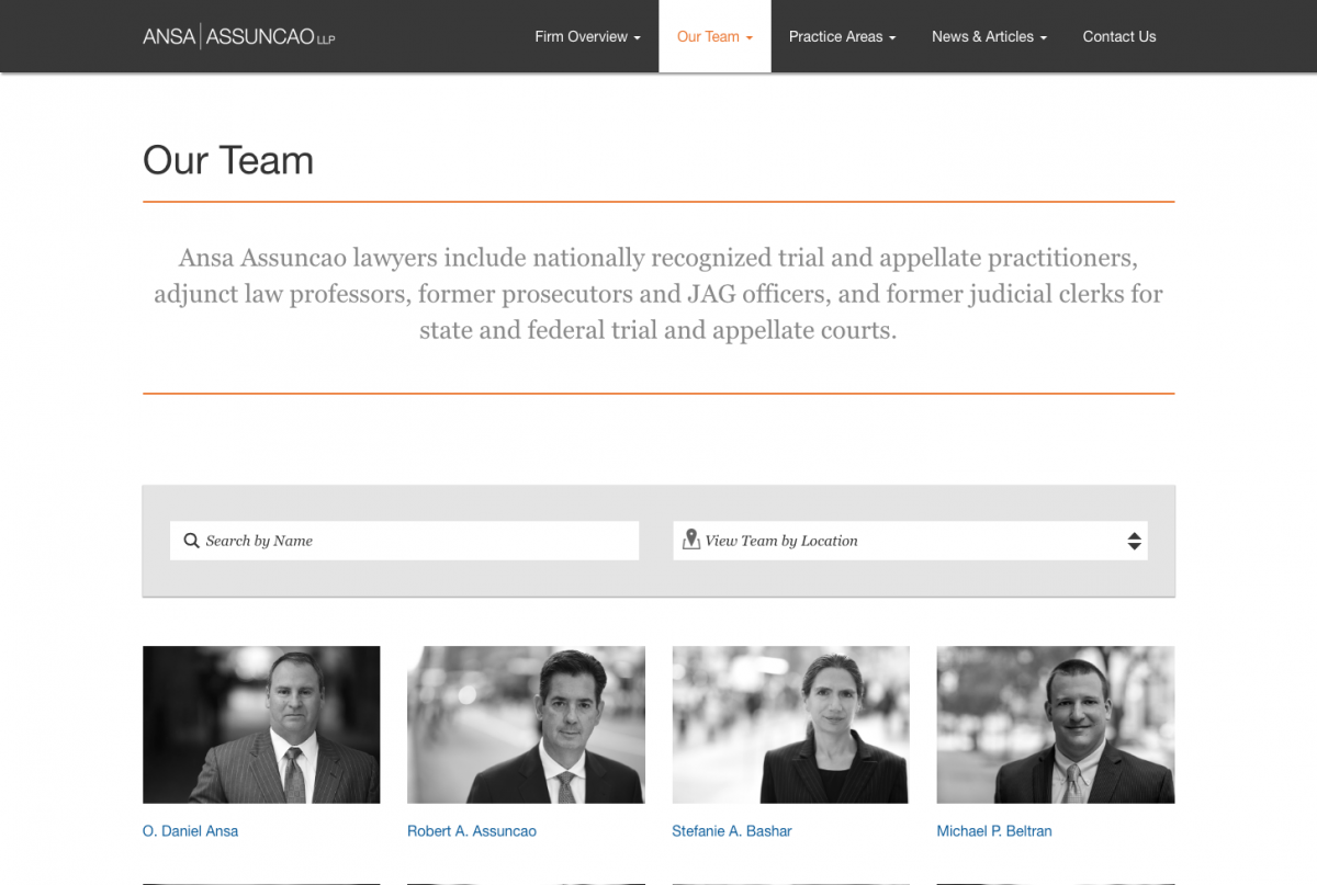 wordpress web design national law firm team